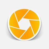 Realistic design element: camera — Stock Vector
