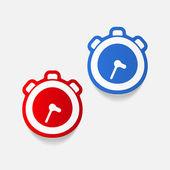 Realistic design element: watch — Stock Vector