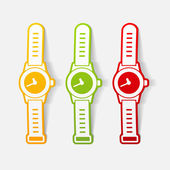 Realistic design element: watch — Stock Vector