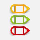 Elemento de design realista: lápis — Vetor de Stock