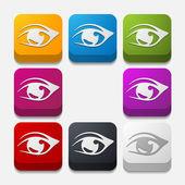 Quadrat-Taste: Auge — Stockvektor
