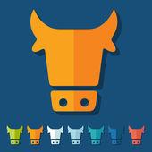 Flat design: cow — Stock Vector