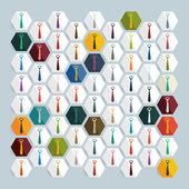Flat design: tie — Stock Vector