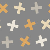 Seamless background: cross — Stock Vector