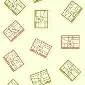 Plano de fundo sem emenda: navigator — Vetor de Stock