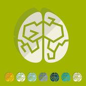 плоская конструкция: мозг — Cтоковый вектор