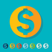 Flat design: money — Stockvector
