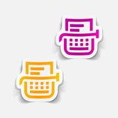 Realistic design element: typewriter — Stock Vector