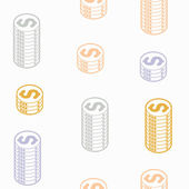 Seamless background: money — Stock Vector