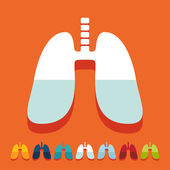 Flat design: lung — Stock Vector