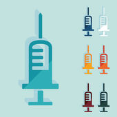Flat design: syringe — Stock Vector