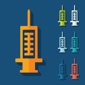 Flat design: syringe — Stock Vector