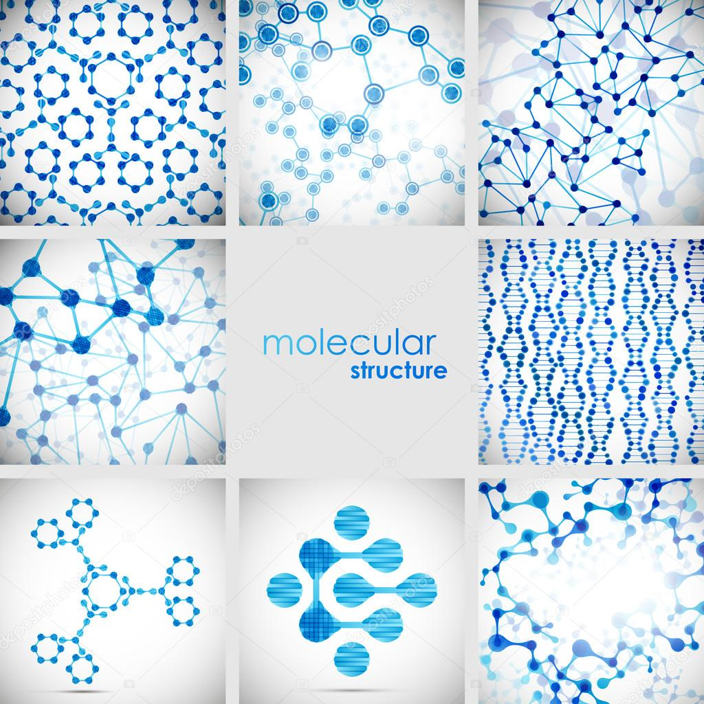 美丽的结构 dna 分子的一套