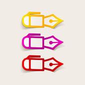 Realistic design element: pen — Stock Vector