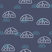Seamless background: cloud — Stock Vector