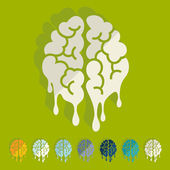 Flat design: brain — Stock Vector
