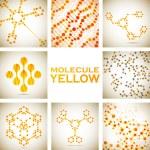 Set of beautiful structure DNA molecule — Stock Vector #44690071