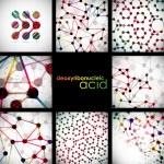 Set of beautiful structure DNA molecule — Stock Vector #44690995