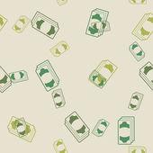 无缝背景: 钱 — 图库矢量图片