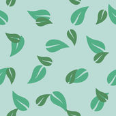 Seamless background: leaf — Stock Vector