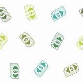 Naadloze achtergrond: geld — Stockvector