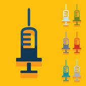 Flat design: syringe — Stok Vektör