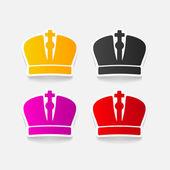 Realistic design element: crown — Stock Vector