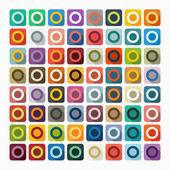Flat design: circle — Stock Vector