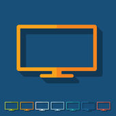 Flat design: monitor — Stock Vector