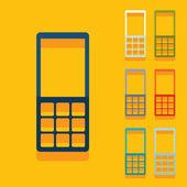 Flat design: mobile — Stock Vector
