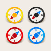 Design element: compass — Vector de stock