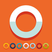 Flat design: circle — Stock Vector