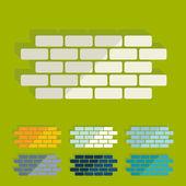 Flat design: brick — Stock Vector