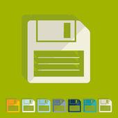 平面设计: 软盘 — 图库矢量图片