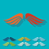 Flat design: wing — Stock Vector