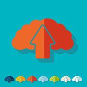 Flat design: cloud — Stock Vector