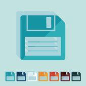 Flat design: floppy — Stockvektor