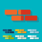 Flat design: brick — Stock Vector