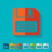 Flat design: floppy — Vector de stock