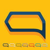 Flat design: bubble — Stock Vector