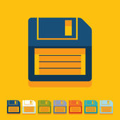 Flat design: floppy — Stock Vector