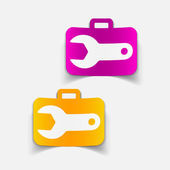 Design element: wrench — Stock Vector