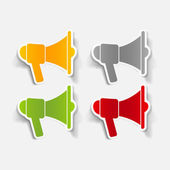 Realistic design element: megaphone — Stock Vector