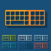 Flat design: keyboard — Stock Vector