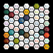Diseño plano: burbuja — Vector de stock