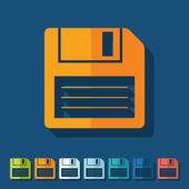 Flat design: floppy — Stock Vector