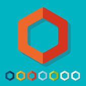 Flat design: polygon — Stock Vector