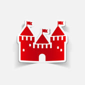Realistic design element: fortress — Stock Vector