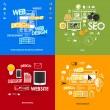 Set of modern stickers. Concept of web design & development, seo, branding, web design. Vector eps10 illustration — Stock Vector