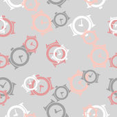 Seamless background: watch — Stock Vector